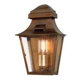 image-St Pauls Hand Made Solid Brass Outdoor Lantern, Antique Brass