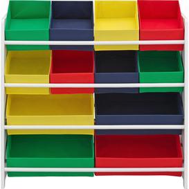 image-Argos Home 4 Tier Kids Basket Storage Unit with Bins - White