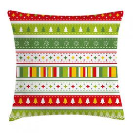 image-Cai Christmas Borders Outdoor Cushion Cover Ebern Designs Size: 50cm H x 50cm W