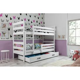 image-Arlette Bunk Bed with Drawer Mack + Milo Bed surface area: European Single (90 x 200 cm), Bed Frame Colour: White/White