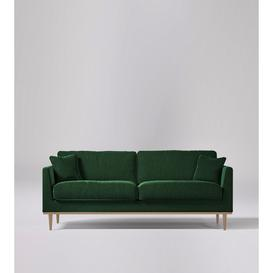 image-Swoon Norfolk Three-Seater Sofa in Hunter Smart Wool With Light Feet