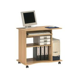 image-Fiadone Computer Trolley, Beech, Free Standard Delivery