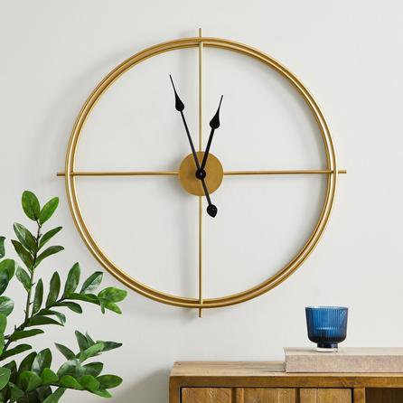 image-Slim Frame 60cm Wall Clock Gold Gold
