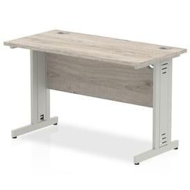 image-Guenievre Executive Desk Ebern Designs Size: 73cm H x 120cm W x 60cm D, Frame Colour: Silver