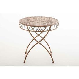 image-Reiser Iron Bistro Table Sol 72 Outdoor Colour: Brown
