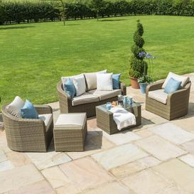 image-Stoltz 5 Seater Rattan Sofa Set with Cushions Sol 72 Outdoor