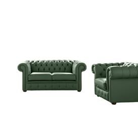 image-Belford 2 Piece Leather Sofa Set Astoria Grand Upholstery Colour: Forest Green