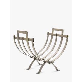 image-Ivyline Linear Log Basket, Pewter