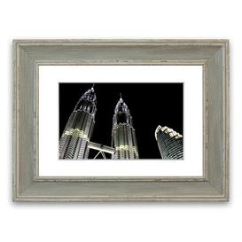 image-'Saudi Arabia Night Lights' Framed Photograph East Urban Home