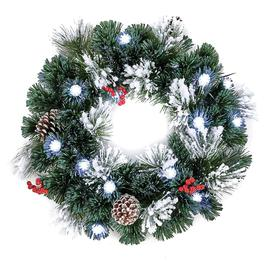 image-The Tree Company 50cm Snow Tipped Christmas Wreath