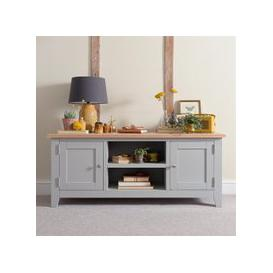 image-Chester Dove Grey Widescreen TV Unit - Up to 65""