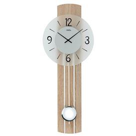 image-Pendulum Clock AMS Uhrenfabrik Colour: Sonoma/Aluminium