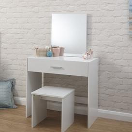 image-Buckland Dressing Table Set with Mirror