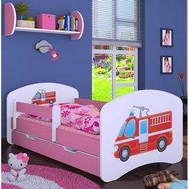 image-Manus Cot Bed / Toddler (70 x 140cm) Bed Frame with Drawer Isabelle & Max Colour (Bed Frame): Pink