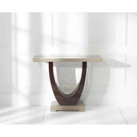 image-Gala Brown Marble Console Table