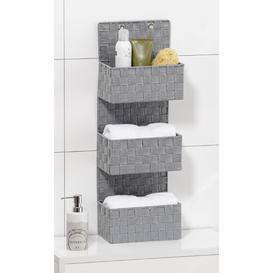 image-Adria 25 x 72cm Bathroom Shelf Rebrilliant Colour: Grey/Brown/Blue