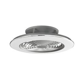 image-Thea LED Ceiling Fan with Remote Mercury Row Finish: Chrome