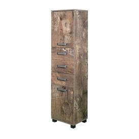 image-Renteria 40 x 163.7cm Tall Bathroom Cabinet Borough Wharf Colour: Brown