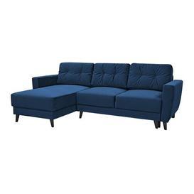 image-Bertram Reversible Sleeper Corner Sofa Bed Selsey Living Upholstery Colour: Dark Blue