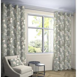 image-Princeton Blackout Eyelet Curtains Fleur De Lis Living Panel Size: Width 228 x Drop 182 cm, Light Filtration: Room Darkening, Thermal: No