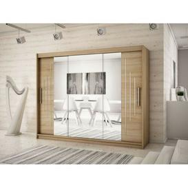 image-Natalie 3 Door Sliding Wardrobe Natur Pur Colour: Sonoma oak