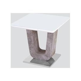 image-Castello End Table - White High Gloss and Natural