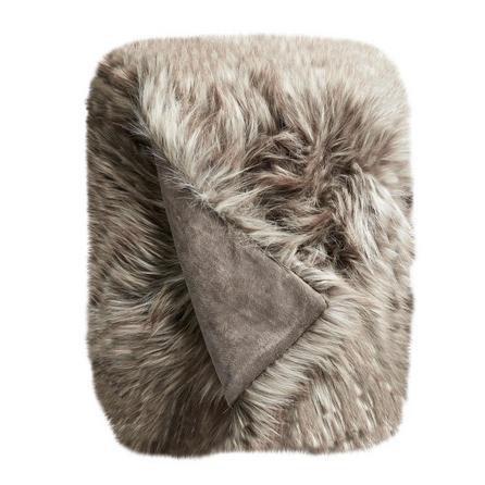 image-Bear Faux Fur 130cm x 180cm Throw Beige