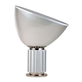image-Taccia LED Table lamp - Plastic diffusor / H 54 cm by Flos White,Silver,Transparent