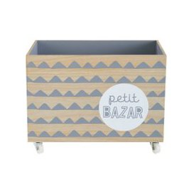 image-Printed Grey Toy Box