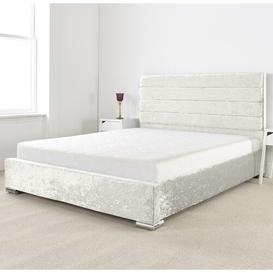 image-Lanata Upholstered Bed Frame Willa Arlo Interiors Size: Single (3'), Upholstery Colour: Pearl
