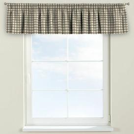 image-Quadro Curtain Pelmet Dekoria Size: 130cm W x 40cm L, Colour: Light Brown/Ecru