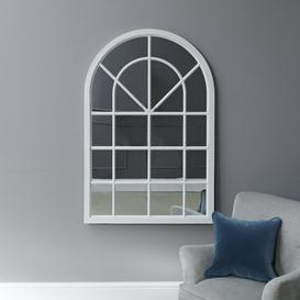 image-Fleur Small Arched Framed Mirror White