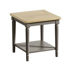image-Harmony Oak and Grey Painted Lamp Table
