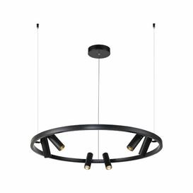 image-Robyn 6 - Light LED Geometric Pendant Wade Logan Finish: Black