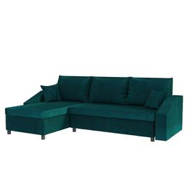 image-Morabod Reversible Sleeper Corner Sofa Bed Selsey Living Upholstery Colour: Emerald Green