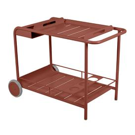 image-Fermob - Luxembourg Drinks Trolley - Red Ochre