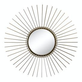 image-Gold Wire Sunburst Accent Mirror