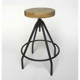image-Athens Height Adjustable Bar Stool Borough Wharf