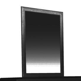 image-Jallet Rectangular Dressing Mirror Metro Lane Colour: Black