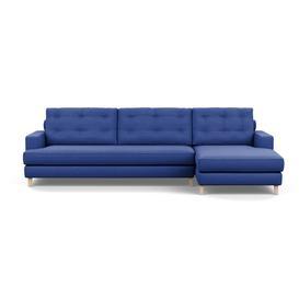 image-Heal's Mistral Right Hand Facing Corner Sofa Brushed Cotton Cobalt Natural