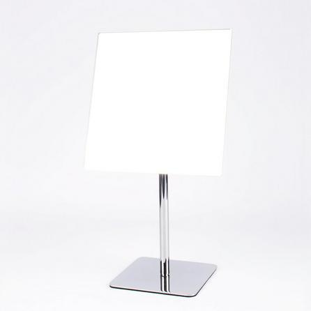 image-Square Pedestal Mirror Chrome
