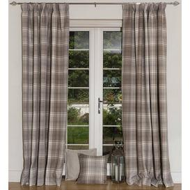 image-Choate Pencil Pleat Semi Sheer Thermal Curtains Union Rustic Size per Panel: 228 W x 137 D cm, Colour: Natural Grey