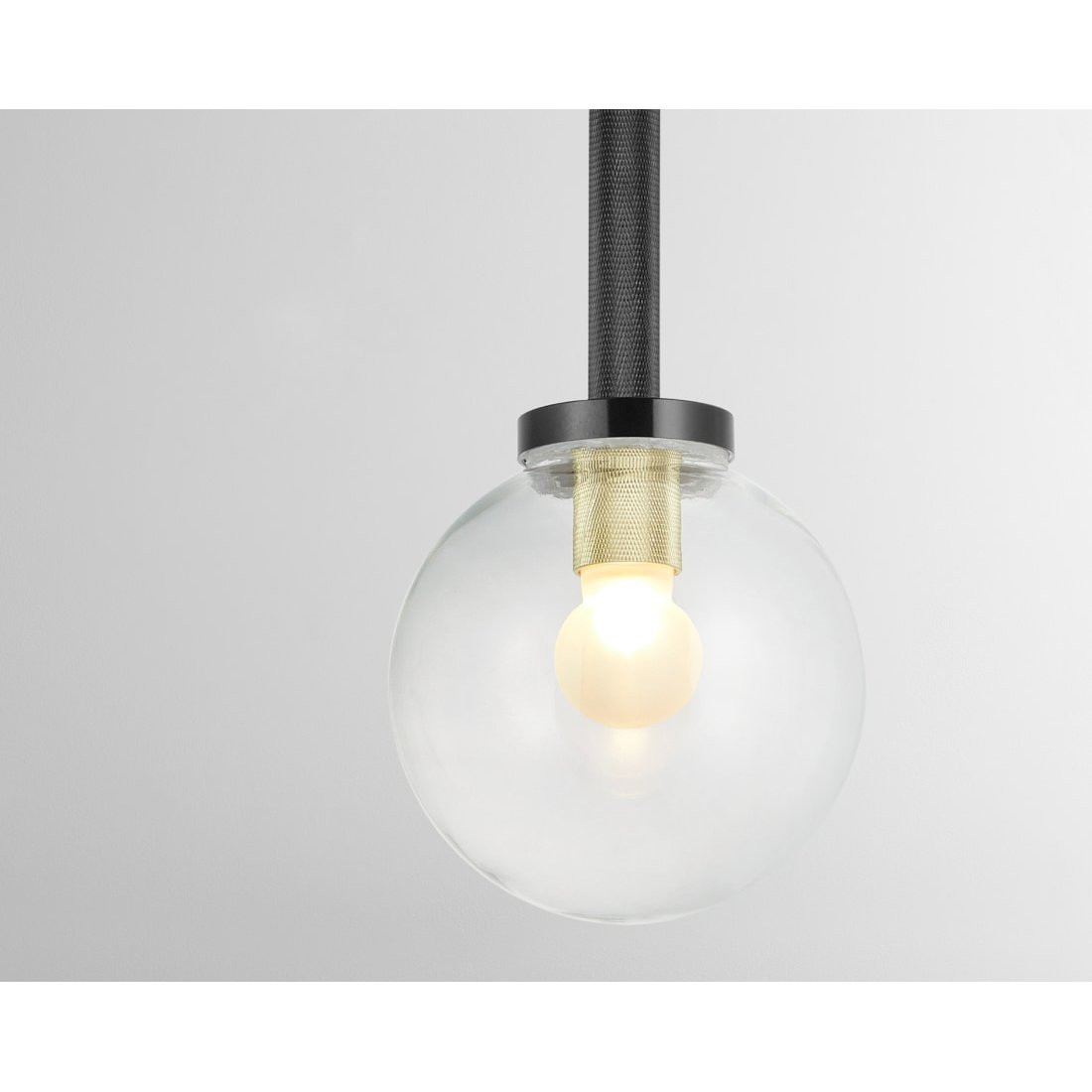 image-Vaughn Bathroom Pendant Lamp, Black and Brushed Brass