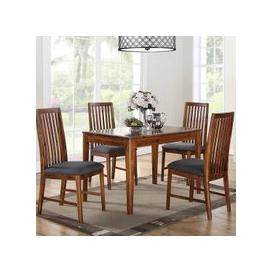 image-Trimble Wooden Dining Table In Acacia With Four Dining Chairs