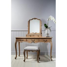 image-Cecilia Arched Dresser Mirror Lily Manor Finish: Weathered