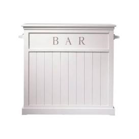 image-Wooden Bar Unit in White W120