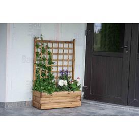 image-Abbott Wooden Planter Box with Trellis