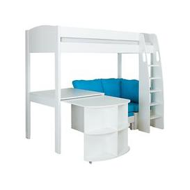 image-Stompa Uno S Plus High-Sleeper Bed with Pull-Out Desk and Chair Bed
