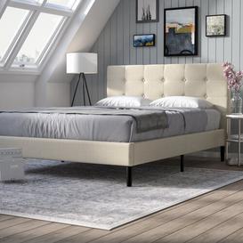 image-Leonard Upholstered Platform Bed Brayden Studio Size: Double (4'6)