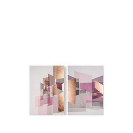 image-Graham & Brown Rose Gold Geos Canvas Wall Art